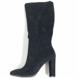 Impo Women's Mohara Black Ruffle Zip Boots 9.5